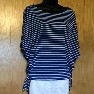 Blue And White Chico's Blouse